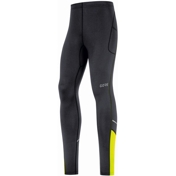 GORE WEAR R3 Mid Tights Herren black/neon yellow