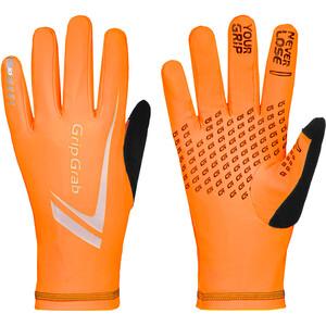 GripGrab Running Expert Hi-Vis Kosketusnäyttöhanskat Talvi, oranssi oranssi