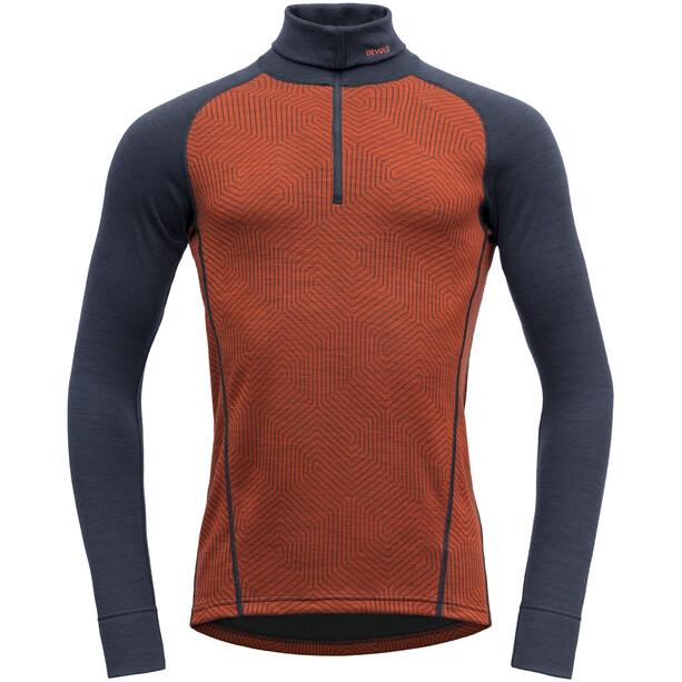 Devold Duo Active Zip Shirt Herren brick/ink