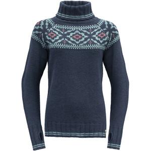 Devold Ona Round Sweater Damen blau blau