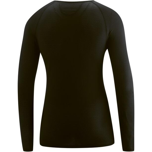 Gonso Cuneo Langarm U-Shirt Herren black