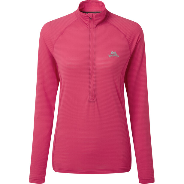 Mountain Equipment Solar Eclipse Zip T-Shirt Damen virtual pink