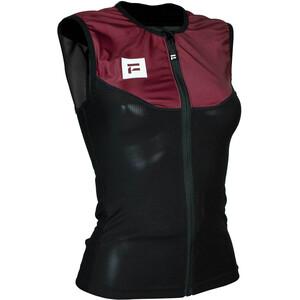 Flaxta Behold Gilet Protecteur Dorsal Femme, rouge/noir rouge/noir