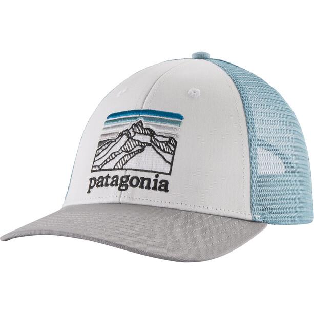 Patagonia Line Logo Ridge LoPro Trucker Cap white