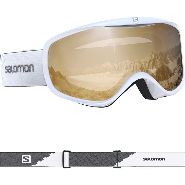 Salomon Sense Access Goggles Damen white/tonic orange