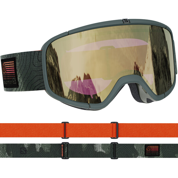 Salomon Four Seven Sigma Goggles olive/black gold