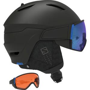 Salomon Driver CA Skihelm Herren black/solar blue black/solar blue