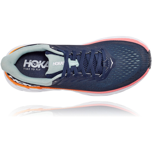 Hoka One One Clifton 7 Running Shoes Women black iris/blue haze