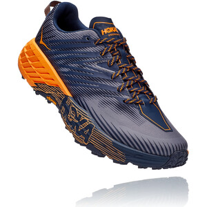 Hoka One One Speedgoat 4 Running Shoes Men black iris/bright marigold black iris/bright marigold