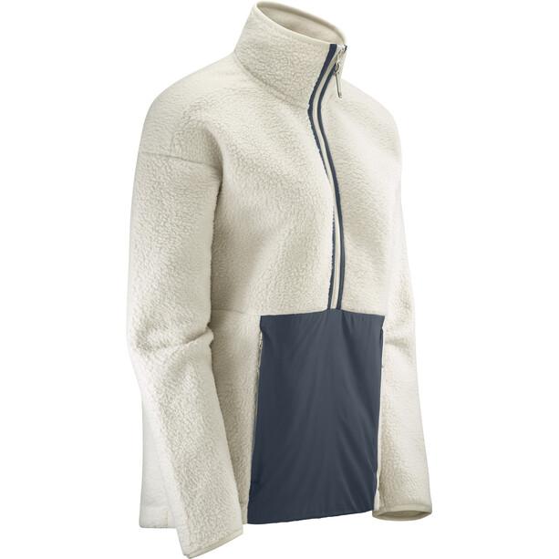 Salomon Snowshelter Teddy Half Zip Pullover Women rainy day