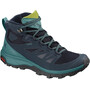 Salomon Outline Mid GTX Shoes Women navy blazer/hydro/guacamole