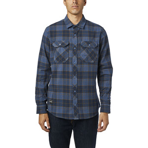 Fox Traildust 2.0 LS Flannel Top Men blå blå