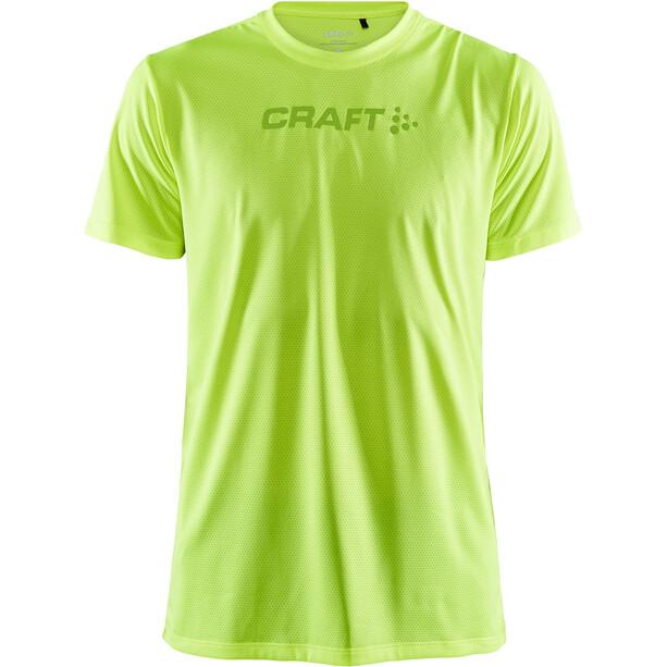 Craft Core Essence Kurzarm Mesh T-Shirt Herren gelb