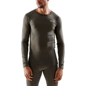 Craft Core Wool Merino Baselayer Set Herren dark olive melange dark olive melange
