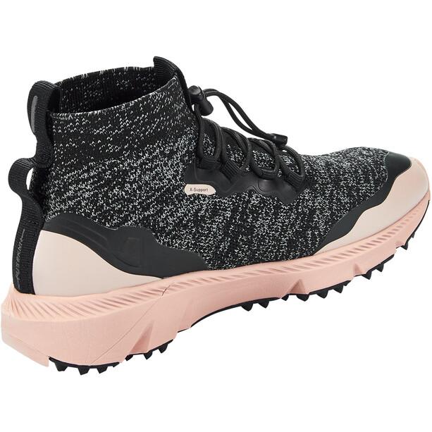 Craft Nordic Fuseknit Hydro Chaussures Mi-Hautes Femme, noir/rouge