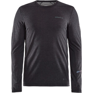Craft SubZ Langarm Wool T-Shirt Herren black melange/monument black melange/monument
