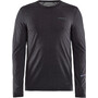 Craft SubZ Langarm Wool T-Shirt Herren black melange/monument