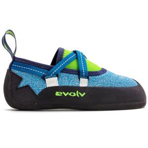 Evolv Venga Kletterschuhe Kinder blue/neon lime blue/neon lime