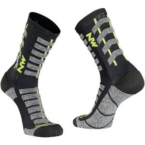 Northwave Husky Ceramic Tech High-Cut Socken Herren black/yellow fluo black/yellow fluo