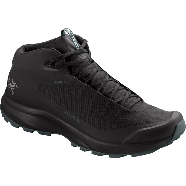 Arc'teryx Aerios FL Mid GTX Shoes Men black/cinder
