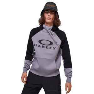 Oakley Sierra DWR Fleece Hoodie Herren black/grey black/grey