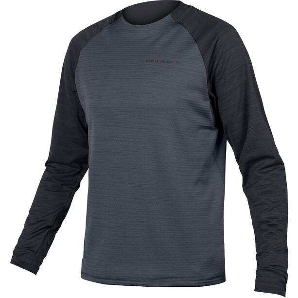 Endura SingleTrack Langarm Fleece Trikot Herren black