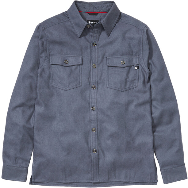 Marmot Movatn Heavyweight LS Flannel Shirt Men steel onyx