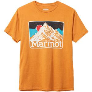 Marmot Mountain Peaks SS Tee Men aztec gold heather aztec gold heather