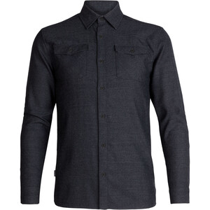 Icebreaker Lodge LS Flannel Shirt Men black heather black heather