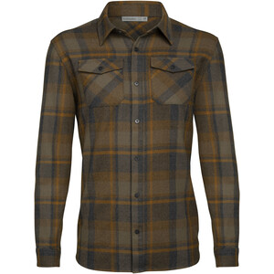 Icebreaker Lodge LS Flannel Shirt Men jet heather jet heather