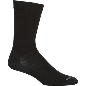 Icebreaker Lifestyle Fine Gauge Crew Socks Men svart svart
