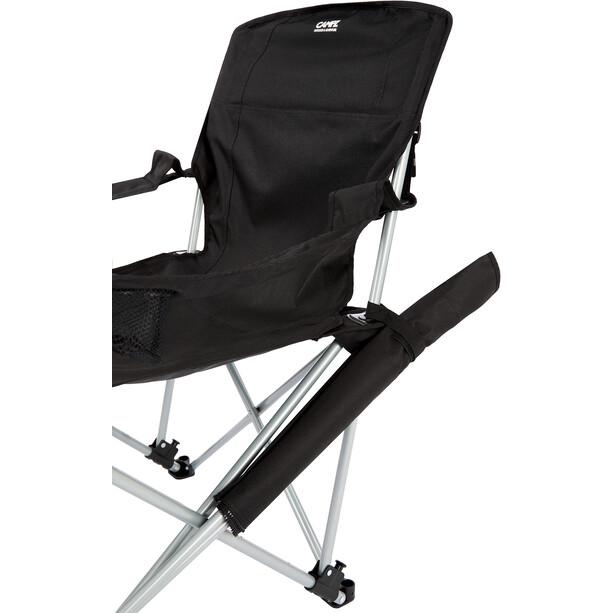 CAMPZ Lounger Faltstuhl mit abnehmbarer Fußstütze black