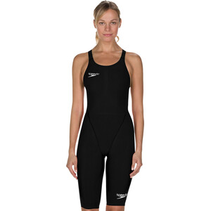 speedo LZR Racer Element Openback Kneeskin Damen black black