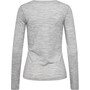 super.natural Base 175 Langarmshirt Damen ash melange