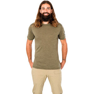super.natural Essential Kurzarm Shirt Herren olive night melange olive night melange