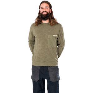 super.natural Alpine Rundhals Sweater Herren olive night melange/olive night olive night melange/olive night