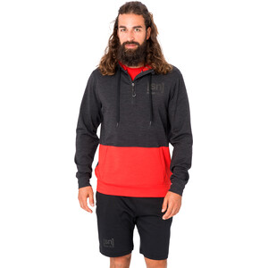 super.natural Movement Half Zip Sweater Herren jet black melange/high risk red jet black melange/high risk red