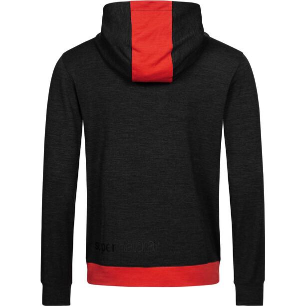 super.natural Movement Half Zip Sweater Herren schwarz