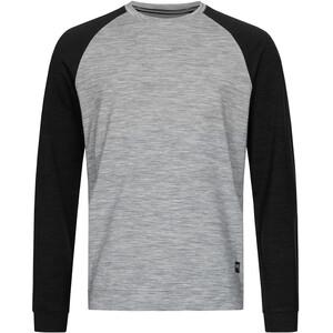 super.natural Signature Contrast Crew Shirt Men ash melange/jet black/jet black back ash melange/jet black/jet black back