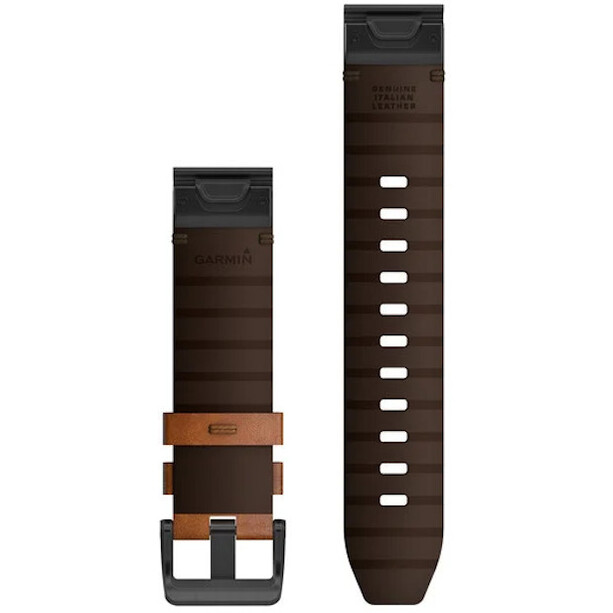 Garmin QuickFit Leather Band 22mm for Fenix 6 brown