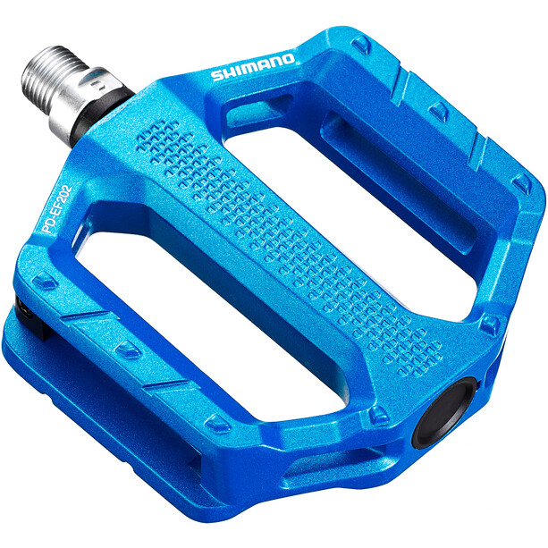Shimano PD-EF202 Flat Pedals, blue