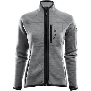 Aclima FleeceWool Jacket Women grey melange grey melange