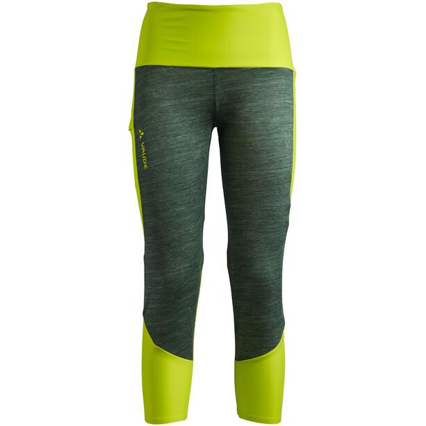 VAUDE Green Core Tights Women, bright green