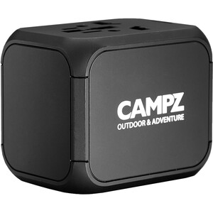 CAMPZ Universal Reise Adapter black black