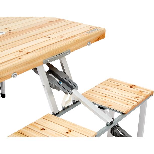 CAMPZ Fir Wood Picnic Table, marron