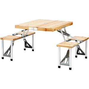 CAMPZ Fir Wood Picnic Table, bruin bruin