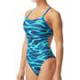 TYR Lambent Cutoutfit Badeanzug Damen blue/green