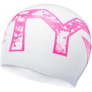 TYR Graphic Silikon Badekappe white/pink white/pink