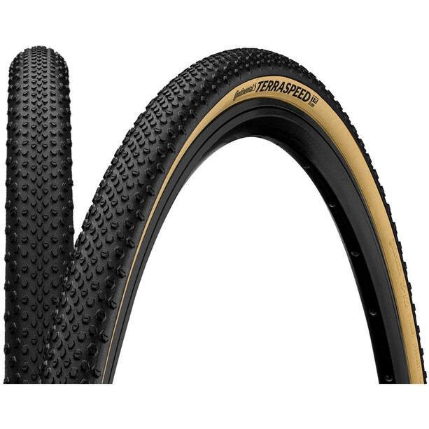 """Continental Terra Speed ProTection Folding Tyre TLR 27.5x1.35"""" black/cream skin"""