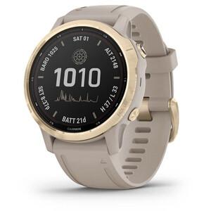 Garmin Fenix 6S Pro Solar GPS Smartwatch beige/gold beige/gold